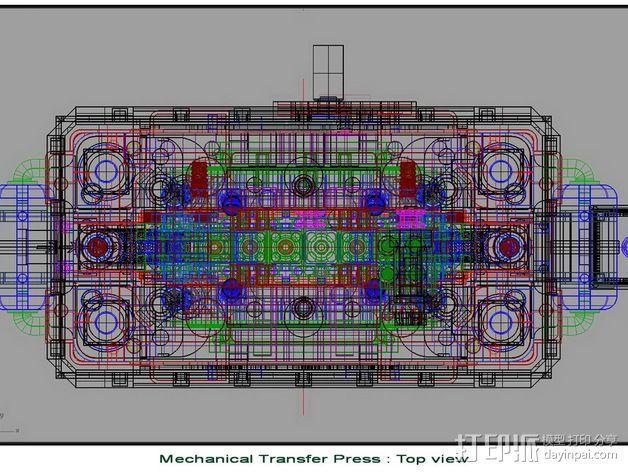 机械多工位压力机 3D模型  图23