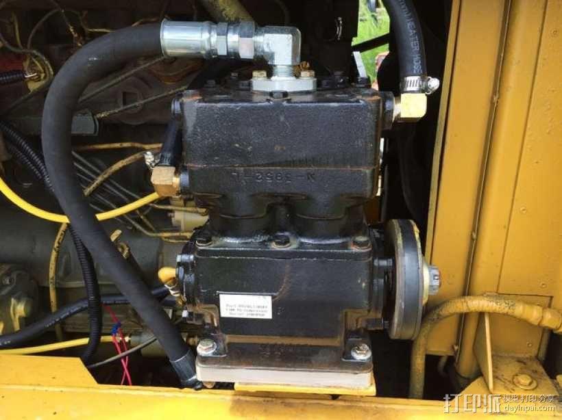 空气压缩机配适器底座 3D模型  图1