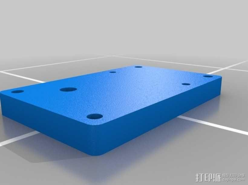 空气压缩机配适器底座 3D模型  图2