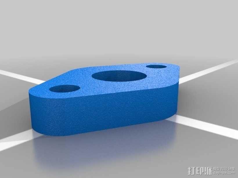 空气压缩机配适器底座 3D模型  图4