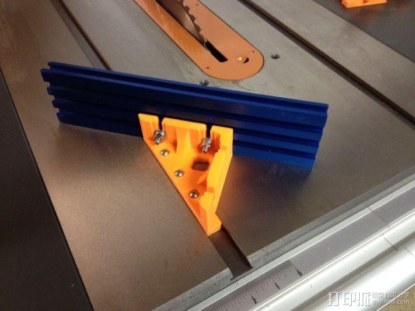 台锯45度倾斜角量规 3D模型  图1