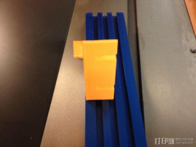台锯45度倾斜角量规 3D模型  图4