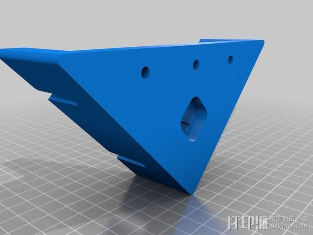 台锯45度倾斜角量规 3D模型  图2