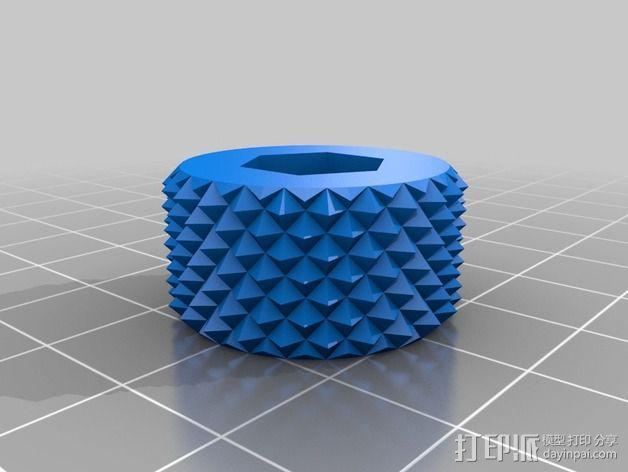 滚花旋钮  3D模型  图4