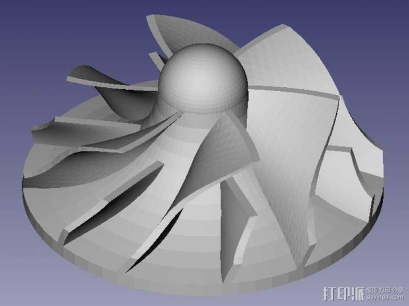 参数化离心式叶轮 3D模型  图1