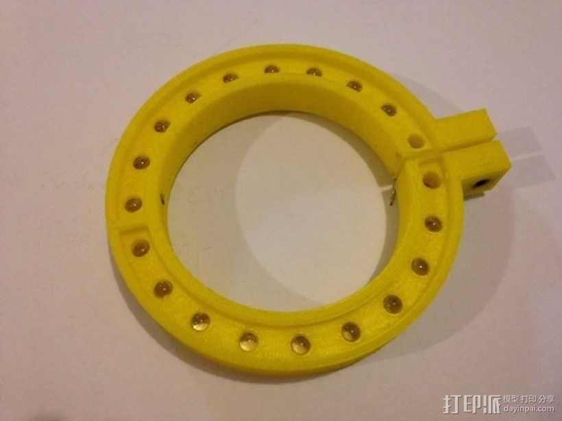 LED环形照明设备 3D模型  图1