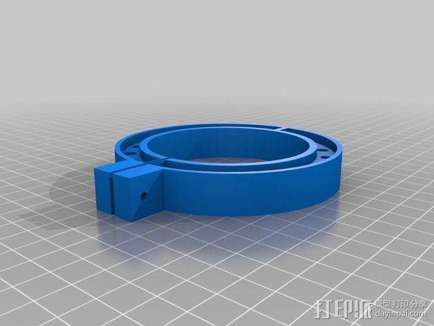 LED环形照明设备 3D模型  图2
