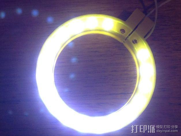 LED环形照明设备 3D模型  图4