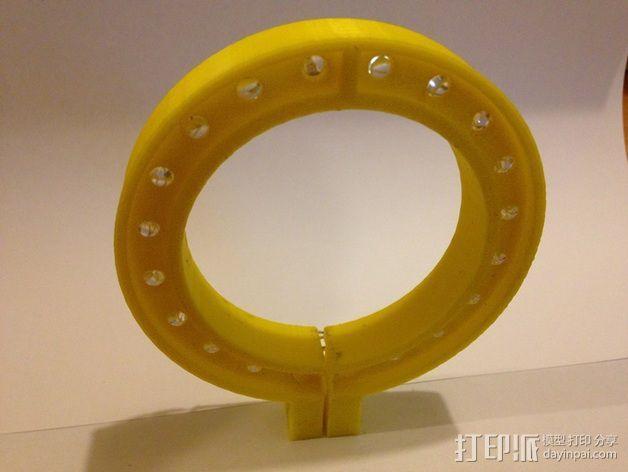 LED环形照明设备 3D模型  图3