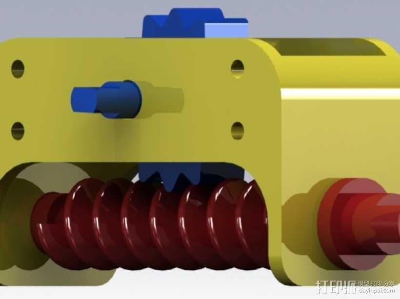 齿轮箱 3D模型  图1