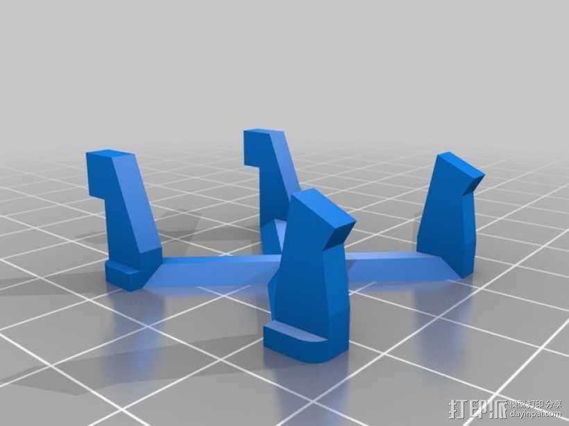 钉板 线轴固定架 3D模型  图3