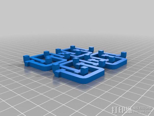 壁挂式工具架 3D模型  图3