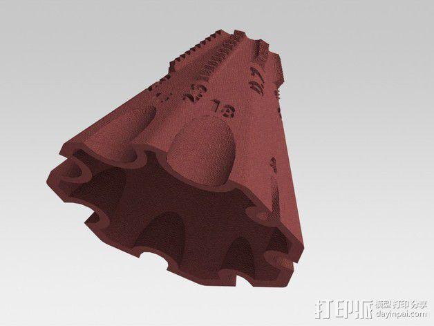 锥形螺纹规 3D模型  图2