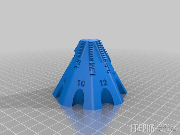 锥形螺纹规 3D模型  图3