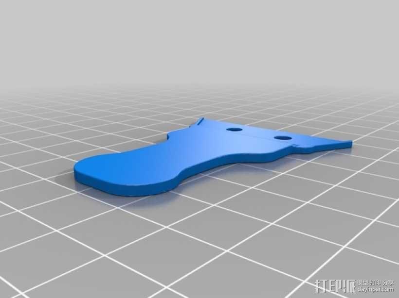 简易刮刀 3D模型  图2