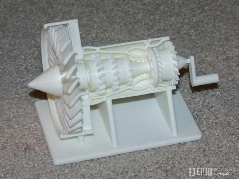 喷射发动机零部件 3D模型  图1
