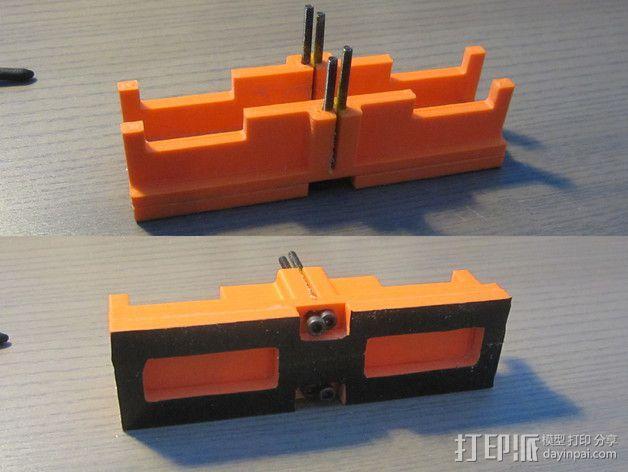 定制化斜锯柜 3D模型  图2