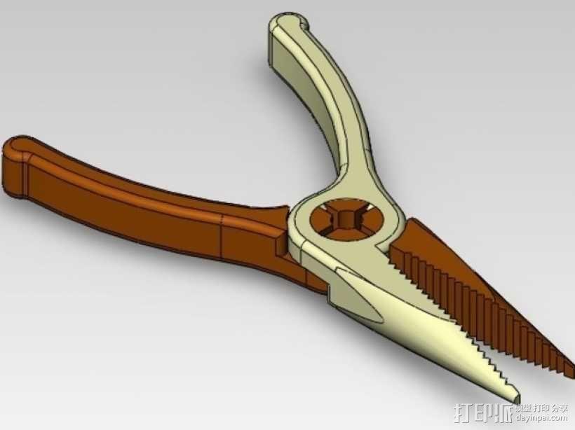 扁嘴钳 3D模型  图1