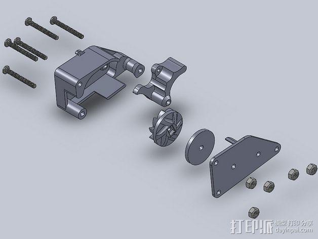 棘轮滑轮组 3D模型  图5