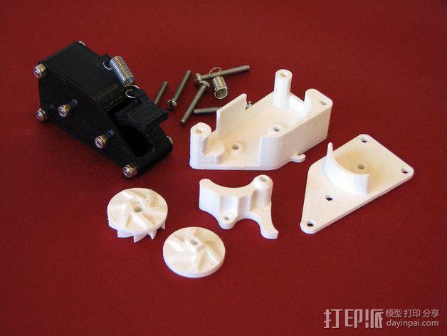 棘轮滑轮组 3D模型  图3