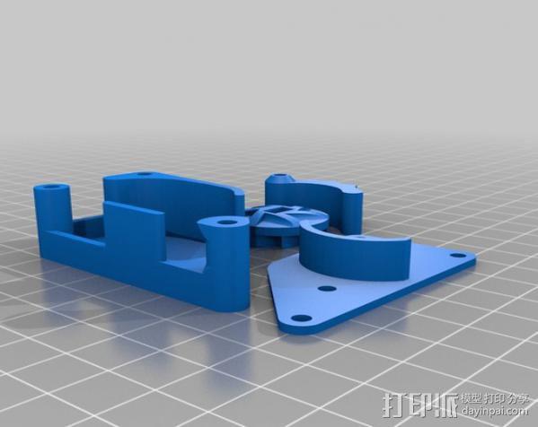 棘轮滑轮组 3D模型  图6