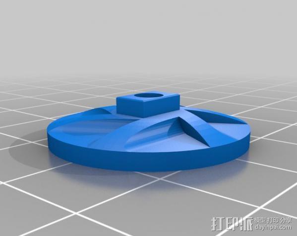 棘轮滑轮组 3D模型  图10