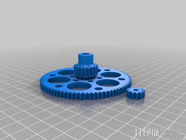 测试用齿轮 3D模型  图1