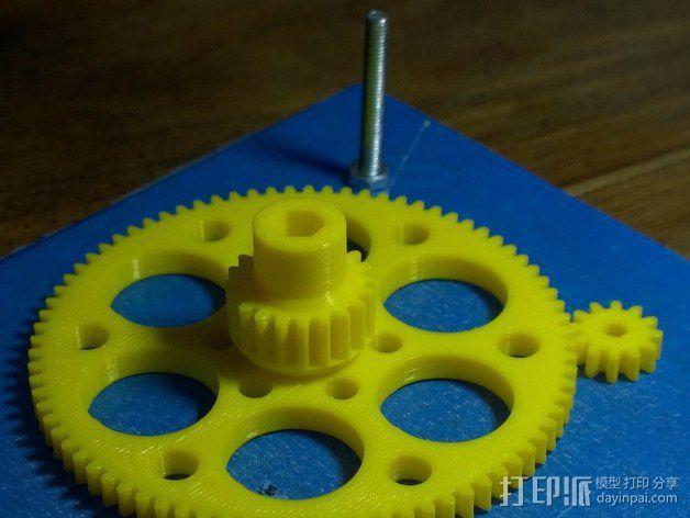 测试用齿轮 3D模型  图3