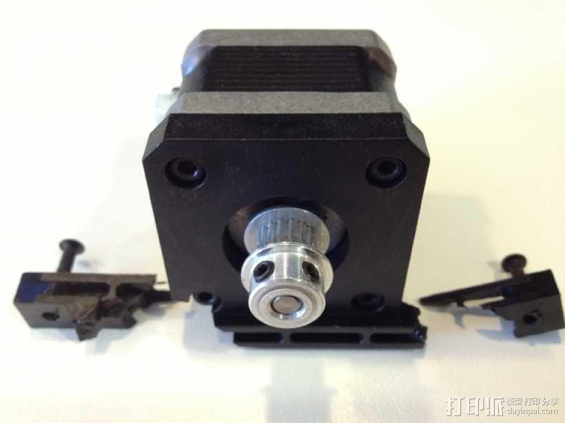 双挤出机3D打印机Y轴电动机固定架 3D模型  图2