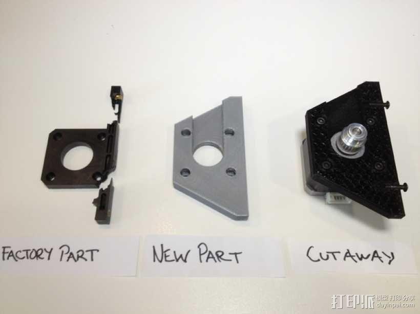 双挤出机3D打印机Y轴电动机固定架 3D模型  图3