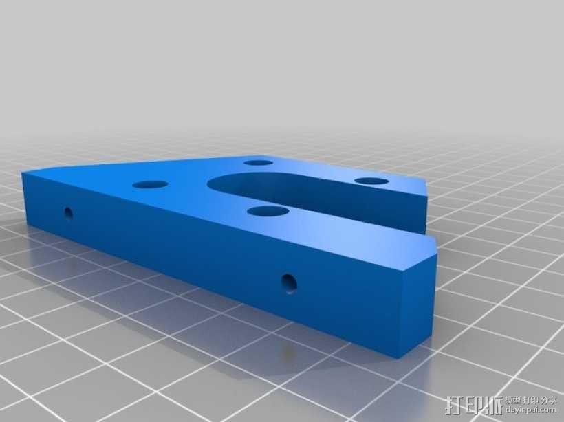 双挤出机3D打印机Y轴电动机固定架 3D模型  图1