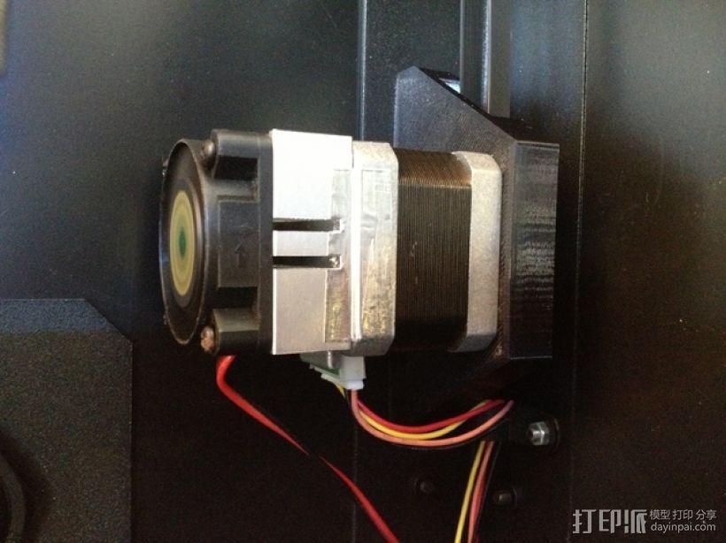 双挤出机3D打印机Y轴电动机固定架 3D模型  图6