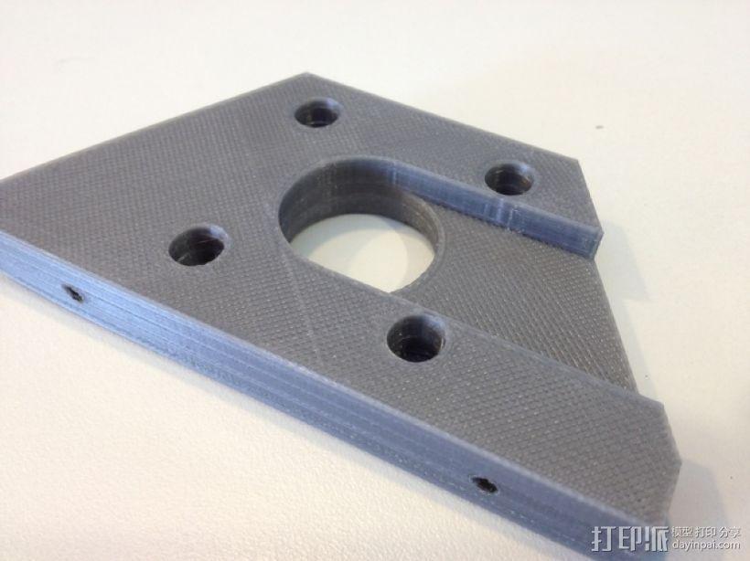 双挤出机3D打印机Y轴电动机固定架 3D模型  图4