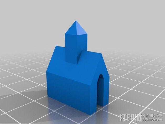 数显卡尺固定架 3D模型  图2
