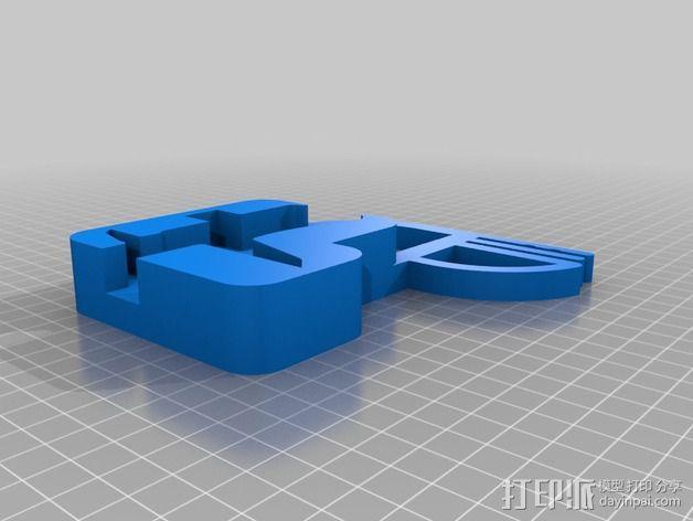 数显卡尺固定架 3D模型  图4