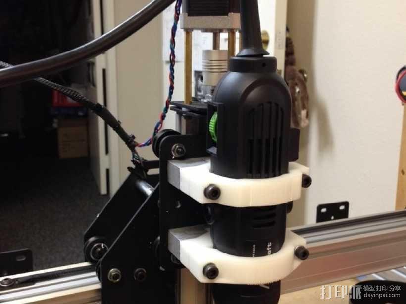 Shapeoko 2电动工具架 3D模型  图1