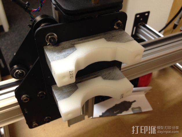 Shapeoko 2电动工具架 3D模型  图3