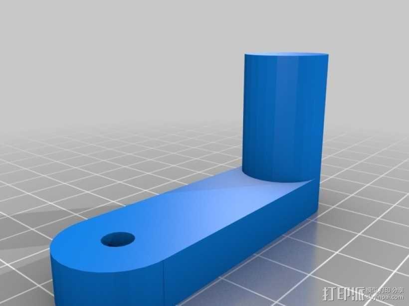 感应起电机曲柄 3D模型  图2