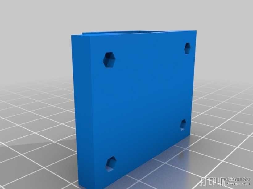 Y轴皮带护圈 3D模型  图1