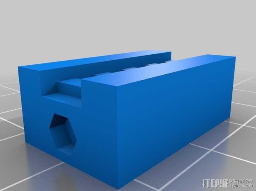 Y轴皮带护圈 3D模型  图3
