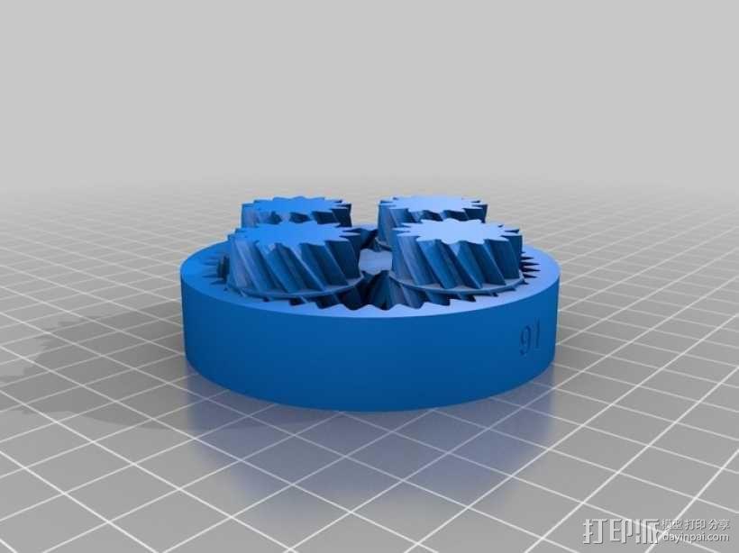 行星齿轮组 3D模型  图4