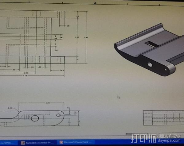 渔具盒把手 3D模型  图5