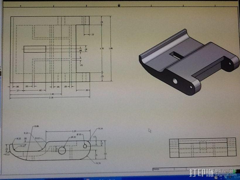渔具盒把手 3D模型  图7
