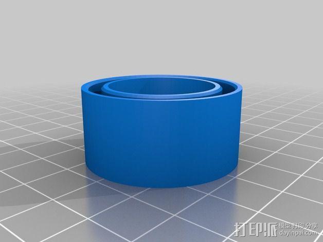 定制化塑料管连接头 3D模型  图2