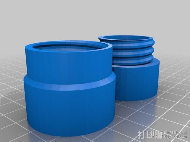 定制化塑料管连接头 3D模型  图3