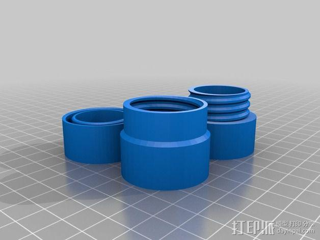 定制化塑料管连接头 3D模型  图4