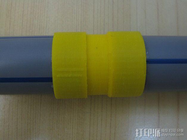 定制化塑料管连接头 3D模型  图6