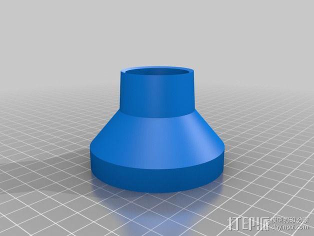 博世RA1181真空吸尘软管配适器 3D模型  图2