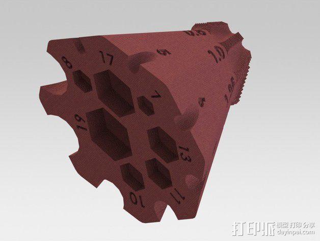 锥形螺纹规 3D模型  图1