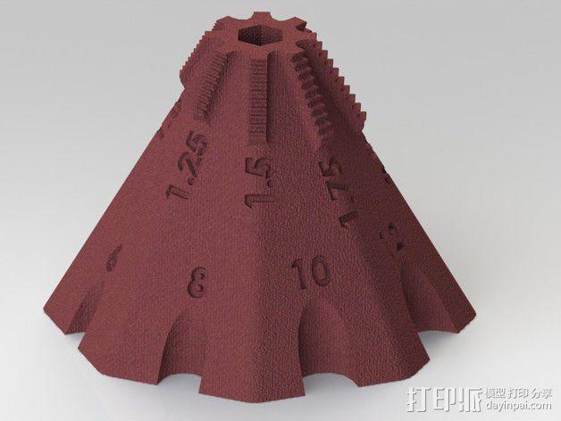 锥形螺纹规 3D模型  图4